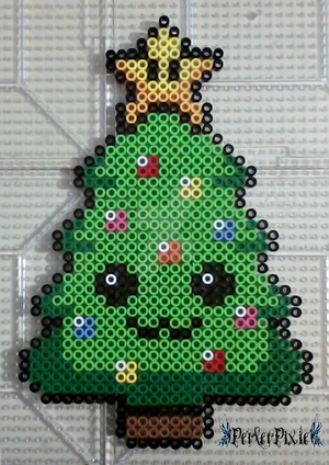 Kawaii Mario Christmas Tree by PerlerPixie