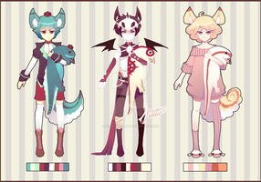 Male Adoptable Set [CLOSED] by Andreia-Chan