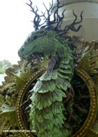 Forest Dragon Framed Sculpture by MysticReflections