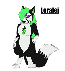 Commission: Loralei ref by rexyplexy