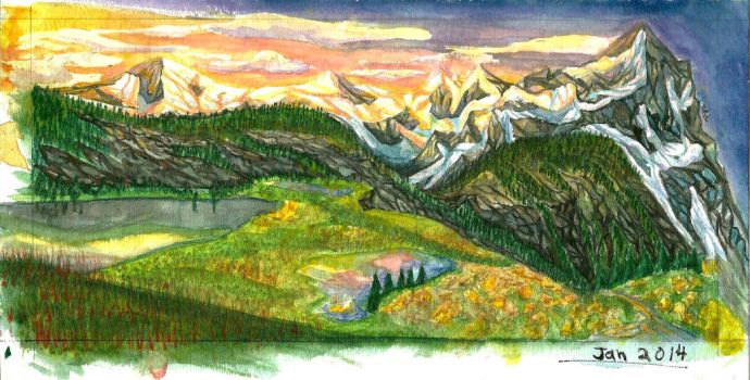 Sherbet Mountains by Ark-illustrates
