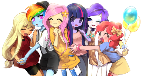 Mane six by quizia