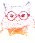 Chemistry cat text portrait by Plentyrees