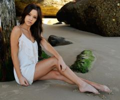 Annali - white dress on sand 2 by wildplaces