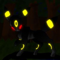 Lone Wolf: Umbreon by Avi-the-Avenger
