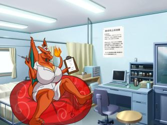 Charizard The Sexy Looner Nurse by demonstardust
