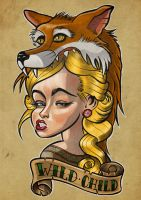 Wild Child - Tattoo / T-shirt design by LaserDatsun