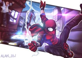 Hoddie Spiderman Fan Art by alanasdasd