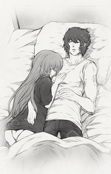 Hiro and Kanae Bed by heavenlyabyss