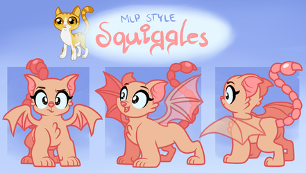 OLD Squiggles Reference Sheet by Catnip1996