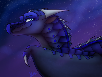 Blue Galaxy Headbust CM by Sahel-Solitude