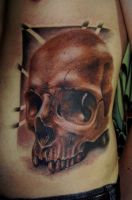 skull tattoo by ED-Tattoo