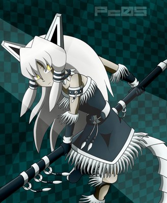 White wolf huntress: You're about to get chop by Pichu-Chan05