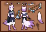 Commission 1/2: Kit Reference Sheet by Foxhatart