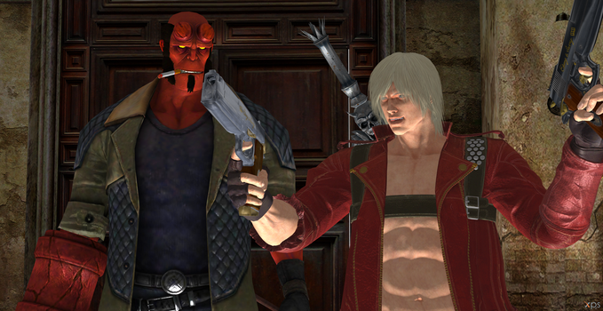 Hellboy and Dante by Hatredboy