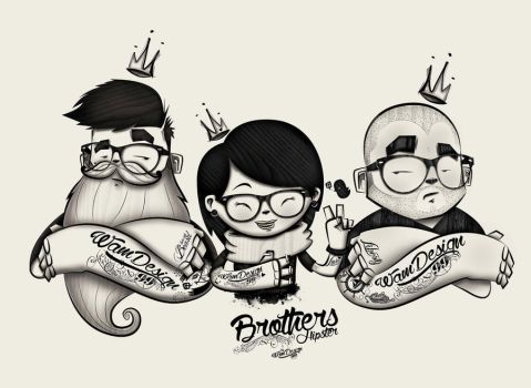 Brothers Hipster by wam099
