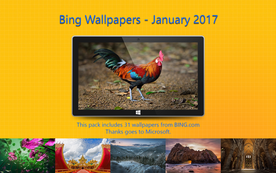 Bing Wallpapers - January 2017 by Misaki2009