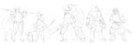 Shining Force Sketches by Blazbaros