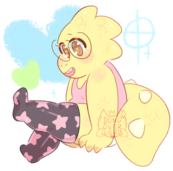 alphys in thigh highs by dongoverlord