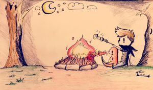 Smores before snores by Dazeinnight
