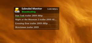 SABnzbd Monitor for Gnometer by dcrutgers