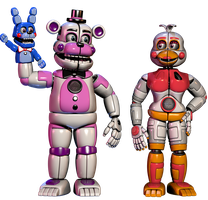Funtime Chica done + fredy by Bantranic