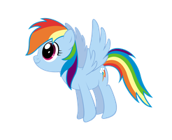 Rainbow Dash Drawing Vector by saturtron
