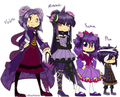 Purpurne Family Redesign by HezuNeutral