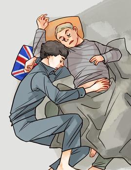 BBC Sherlock Nap time by koenta