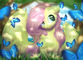 Butterflies :3 by PeachMayFlower