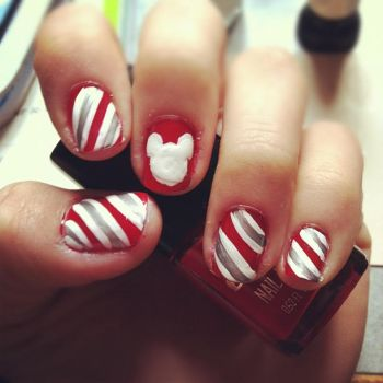 disney christmas nails by juniehearts on deviantart - Disney Christmas Nails