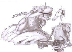Battle Droid with AAT by Slayerlane