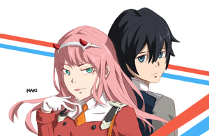 Darling in the FranXX (Zero Two and Hiro) by DespairBunny