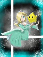 Rosalina for SMASH!!!! by rosumasansrie21