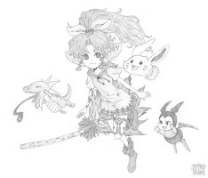 legend of mana : lisa by damndamndrum