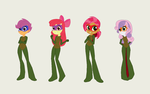 The CMC Dressed as the TMNT by TheWalrusclown