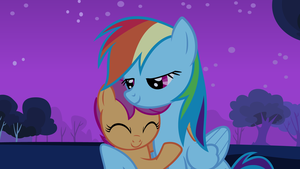 Rainbow Dash and Scootaloo - HD Wallpaper by Saphyl