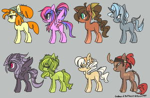 .:MLP: $1 Pony Adopts 4 (1/8 OPEN):. by Galiou