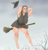 Witch on a Magic Broomstick by ExodusIsNear