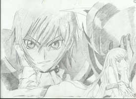 Lelouch and C.C From Code Geass by becmart03