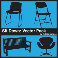 Sit Down Vector Pack by fudgegraphics