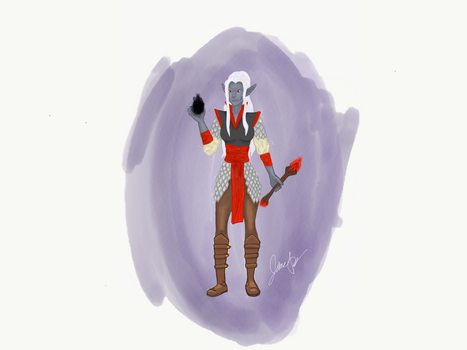 Unnamed Drow Warlock by twzzlerz