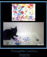 Painting With Cats Part 2 by leopardwolf