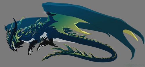 [Character Auction] Seagreen Dragon [Closed] by Dinkysaurus
