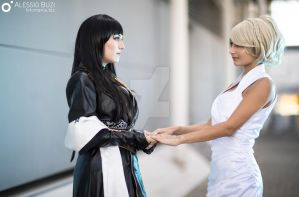 Lunafreya and Gentiana from FFXV by MartiHope