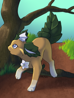 Datura leafeon by TwitchyGears