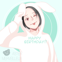 Happy Birthday Co-Mascot!! by AsterMerveilleux