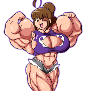 Mikan Flexing By Devmgf Colored by Nokozeze