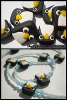 Fimo penguins by Shatya