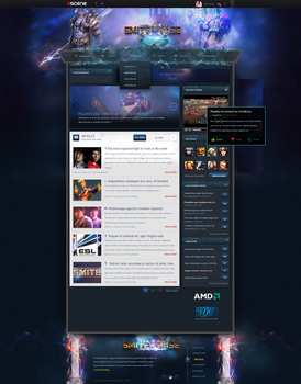 SMITE homepage webdesign by rEspaWn16